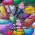 Oil Pastel Abstract by Lindsey Saucier