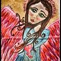 Oil Pastel Angel by Christine Paris