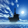 Oil Rig, Artwork by Victor Habbick Visions