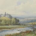 Okehampton Castle by Frederick John Widgery