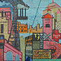 Oklahoma City Bricktown Mosaic Wall by Bob Phillips