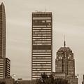 Oklahoma City Okc Sepia Downtown City Skyline by Gregory Ballos