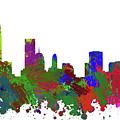 Oklahoma City Skyline Painted by Ricky Barnard
