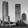 Oklahoma City Skyline Square Black And White by Gregory Ballos