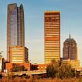 Oklahoma City Skyline Square Vibrant Color by Gregory Ballos