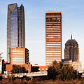 Oklahoma City Skyline Square Washed Out by Gregory Ballos