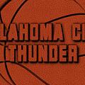 Oklahoma City Thunder Leather Art by Joe Hamilton