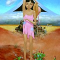 Oklahoma Girl With Mt.fuji by Jerrold Carton