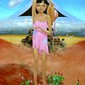 Oklahoma Girl With Mt.fuji by Jerrold Carton