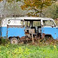 Old Abandoned Hippie Van by Kenneth Summers