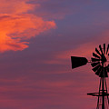 Old American Farm Windmill With A Sunset  by James BO  Insogna