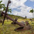 Old Anchor In Kauai by Yefim Bam