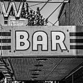 Old Bar Sign Livingston Montana Black And White by Edward Fielding