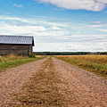 Old Barn By The Gravel Road by Jukka Heinovirta
