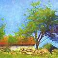 Old Barn Impressionist by Lutz Baar