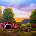 Old Barn In The Meadow by Dina Sierra