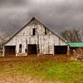 Old Barn In The Storm by Terri Morris