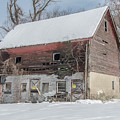 Old Barn In Upper Roxborough In The Snow by Bill Cannon
