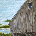 Old Barn In Winter by Norman F Jackson