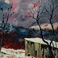 Old Barn In Winter by Pol Ledent