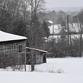 Old Barn In Winter Scenery by Hughes Country Roads Photography