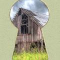 Old Barn Keyhole by Steve Edwards