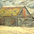 Old Barn Mossey Roof by Kenneth LePoidevin