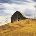 Old Barn With Windmill by Johanna Lerwick