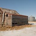Old Barns And A Grain Bin by Jeff Swan