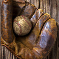 Old Baseball Mitt And Ball by Garry Gay