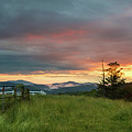Old Beech Spring Sunset by Sallie Woodring