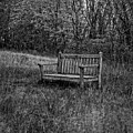 Old Bench Concord Massachusetts by Edward Fielding