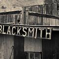 Old Blacksmith Shop Sign Toned  by David Gordon