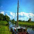 Old Boat In Holland by John  Kolenberg