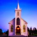 Old Bodega Church Sunset by Garry Gay