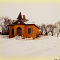 Old Brick Schoolhouse In Winter by Curtis Tilleraas