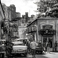 Old Buildings And Cars In Havana - V2 by Les Palenik