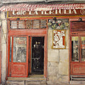 Old Cafe- Santander Spain by Tomas Castano