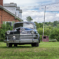 Old Car In Front Of House by Edward Fielding