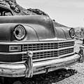 Old Cars In The Desert, Eldorado Canyon, Nevada Bw by Edward Fielding