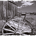 Old Cart And Building Bodie California by George Oze
