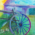 Old Cartwheel At Father Pandosy Mission by Marina Garrison