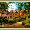 Old Castle - France H A With Decorative Ornate Printed  Frame  by Gert J Rheeders