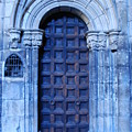 Old Cathedral Door In Barcelona by Dorota Nowak