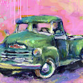 Old Chevy Chevrolet Pickup Truck On A Street by Svetlana Novikova