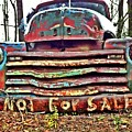 Old Chevy Truck With Graffiti by T Lowry Wilson