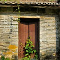 Old Chinese Village Door Series Sixteen by Kathy Daxon