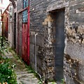 Old Chinese Village Narrow Walkway by Kathy Daxon