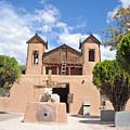 Old Church In Chimayo  by Randy  Rhodes
