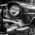 Old Classic Car In Black And White by Louis Daigle